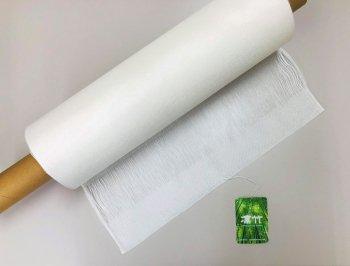 �2434 凛竹バンブー100%中判ショール 40×169房7cm  1枚 染色用 未精練