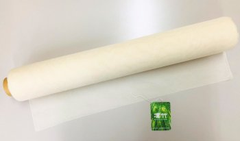 �2247 凛竹バンブーコットンショールさらら 巾52cm  mカット販売  染色用 未精練