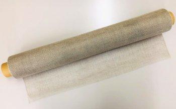 �2192 リネンショール 生成 生地 51cm巾 mカット販売 染色用  未精練