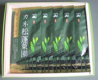 カネ松蓬莱園深蒸し緑茶 100g平袋5本化粧箱入