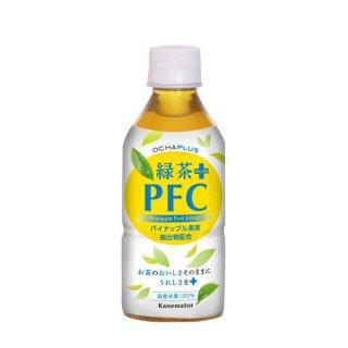 【配送用】OCHAPLUS 緑茶PLUS PFC (350ml×24本入)お茶とパイナップル果実