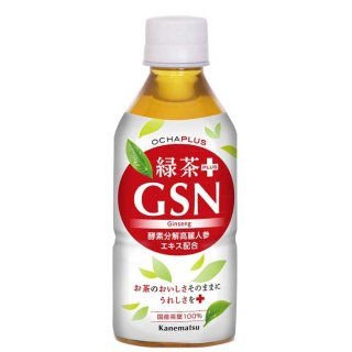 【配送用】OCHAPLUS 緑茶PLUS GSN (350ml×24本入)お茶と酵素分解高麗人参エキス入