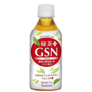 【ご来店受取り限定】OCHAPLUS 緑茶PLUS GSN (350ml×24本入)お茶と酵素分解高麗人参エキス入