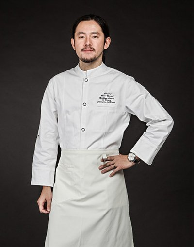 organic cotton single chef j.k (white) #AJ1458