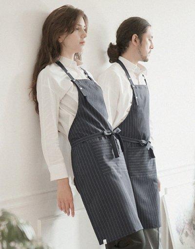 modern pin striped apron grey #AA1702