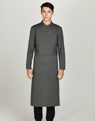 covered relaxed chef apron #AA1914dg