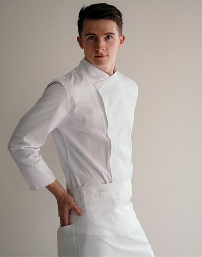 Signature Back Side Cooling Part 9 Chef Coat #AJ1972 white