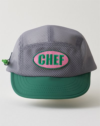 All mash pancel holder camp cap #AH1994 Cement + Clover green
