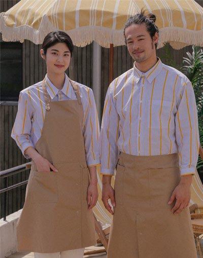 Loose fit cotton capri shirt #AS1993 Yellow stripe