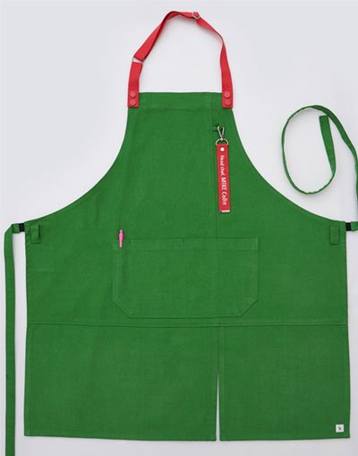 Oxford Color Lego Strap Change  Apron ##AA2007 Clover Green