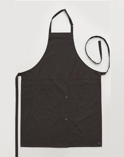 MOI Front slit chest apron #AA1984 Darkgray