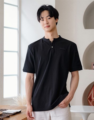 China Kara One Botton PK T-shirts #AT1997 Black