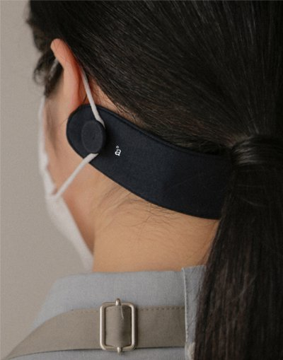 Mask Ear Protection Strap Dark Navy ##AA2000