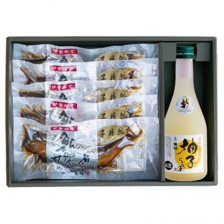 子持鮎5尾と伊勢之國柚子にごり酒(300ml)1本セット 【YUZ-051】