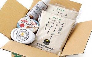 北海道よつ葉 バターミルクパンケーキミックスと乳製品の詰め合わせ