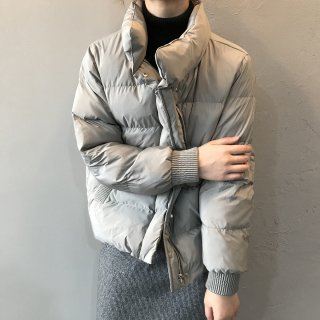 スタンドカラー ボリューム 中綿コート レディース ブルゾン 袖リブ あったか アウター