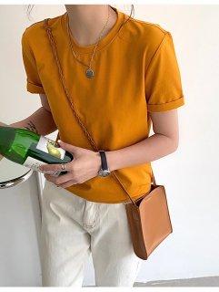 半袖Tシャツ レディース シンプル ベーシック 無地 カジュアル