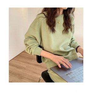 春色 カラー セーター カットソー シンプル レディース