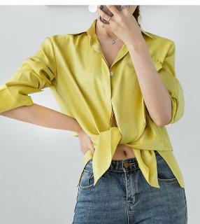 綺麗め シンプル レディース カラー シャツ エレガント