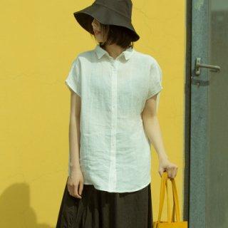 2way 半袖 シンプル カジュアル レディース シャツ
