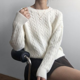 5色展開 ニット セーター レディース 秋冬 オフィス お出かけ 通勤 韓国 ファッション デート お揃い YANSOO