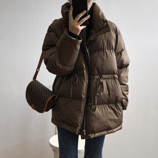 首元まで温かい アウター コート 綿入り レディース秋冬 お出かけ おしゃれ シンプル 襟付き  YANSOO
