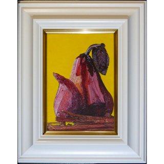 横尾美美「La France au Miel」現代アート 絵画 額付 油彩画