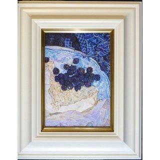 横尾美美「Heidelbeere」現代アート 絵画 額付 油彩画