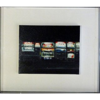 リサ・ミルロイ「Vending Machines」現代アート 絵画 額付 油彩画