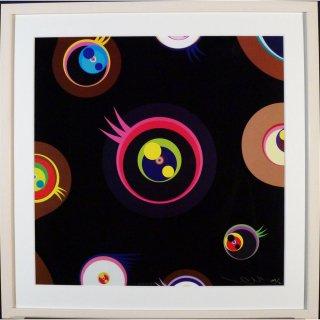 村上隆「めめめくらげ黒1 2011」絵画 額付 版画