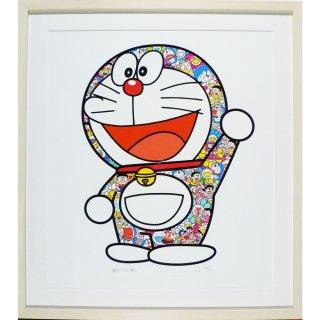 村上隆「ドラえもん さぁ!行くぞ!」絵画 額付 版画 シルクスクリーン
