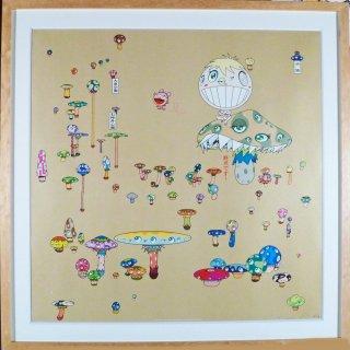 村上隆「迷子、自力でUターン」絵画 額付 版画