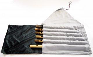 オリジナル笛袋 巻きタイプ6管入れ「ゆびはこび」