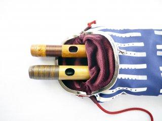 オリジナル笛袋 がま口タイプ「ふえふえ」