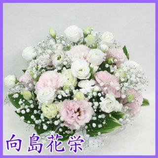 【供花】トルコキキョウの淡い感じのお供えアレンジメント