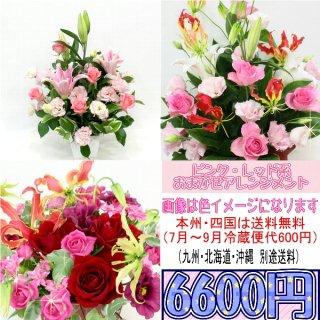 4.ピンク・レッド系おまかせアレンジ 6,600円