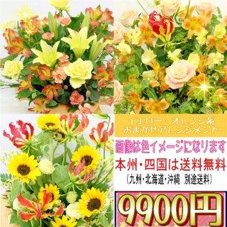 17.イエロー・オレンジ系おまかせアレンジ 9,900円