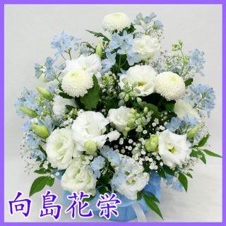 (供花)ピンポン菊の優しい感じのお供えアレンジ