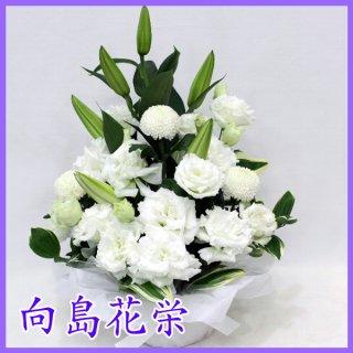 【供花】白ユリのホワイトアレンジメント