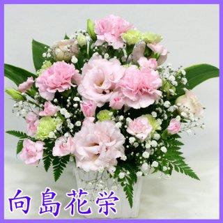 【供花】ピンク系のお供えアレンジメント