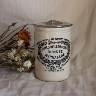 vintage 1920's DUNDEE Marmalade Jar/ビンテージ ケイラージャー(122)