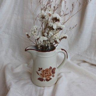 vintage ceramic pitcher/ビンテージ 陶器 ピッチャー 水差し(354B1)