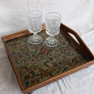 vintage flower tray/ビンテージ花柄トレー/トレイ