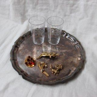 vintage tray/ビンテージ シルバー トレー(596A3)