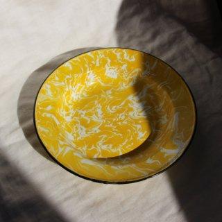 vintage marble enamel plate/ビンテージ マーブル 琺瑯 プレート(M)(602A3)