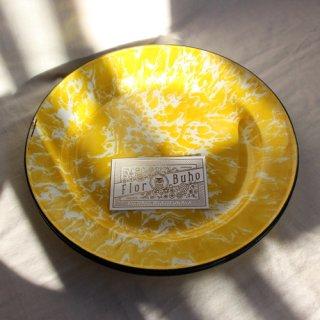 vintage marble enamel plate/ビンテージ マーブル 琺瑯 プレート(L)Y(605A3)