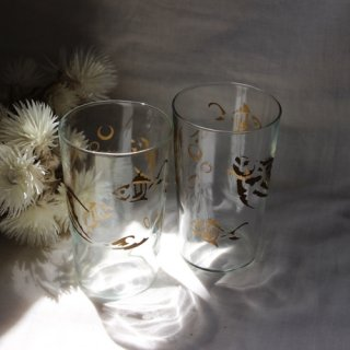 vintage 50's gold fish glass/ビンテージ 1950s グラス(606A3)
