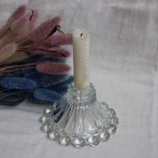 vintage glass candle holder/ビンテージキャンドルホルダー/燭台(651A3)
