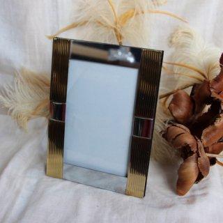 used gold photo frame/ゴールドフォトフレーム/写真立て(273A1)