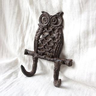 vintage iron hook/ビンテージアイアンフック(フクロウ)(055)
